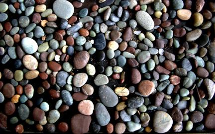 Moonstone beach pebbles