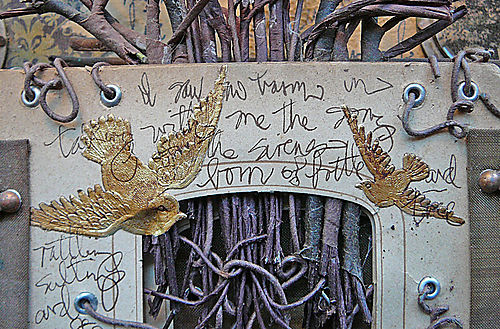 Book of trees bird page detail