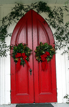 the welcoming doors of grace at christmas