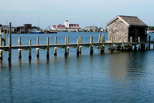 across the harbor
