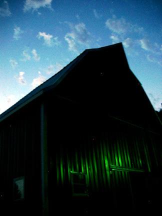 Barn at twilight