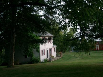 Farmhouse at twilight